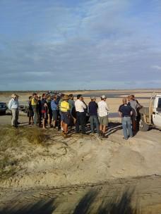 Overlooking the 'near-empty' 8000 ML dam