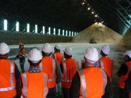 Inside sugar shed